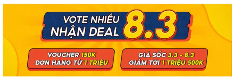 vote nhiều nhận deal